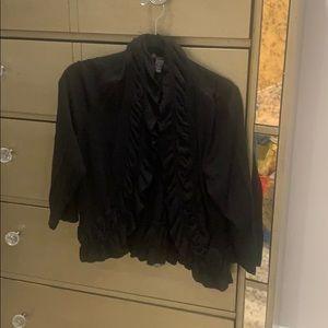 INC ruffled sweater jacket stunning on⭐️⭐️⭐️⭐️⭐️